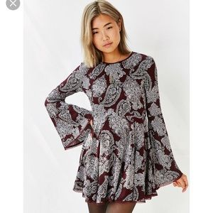 Urban Outfitters Paisley Bell Sleeve Dress